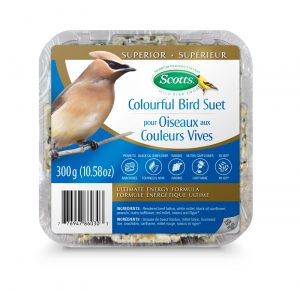 409-281 Scotts Colourful Bird Suet 300g Front 7-76947-86030-3 Bilingual