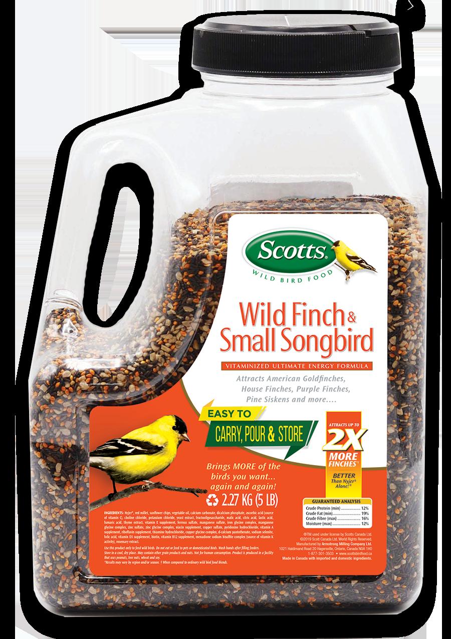 409-293 - Scotts Wild Finch _ Small Songbird Jug 2.27KG - 7 76947 86049 5 - English trans